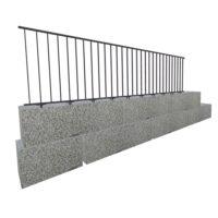 Befestigung auf Blocksteinmauer