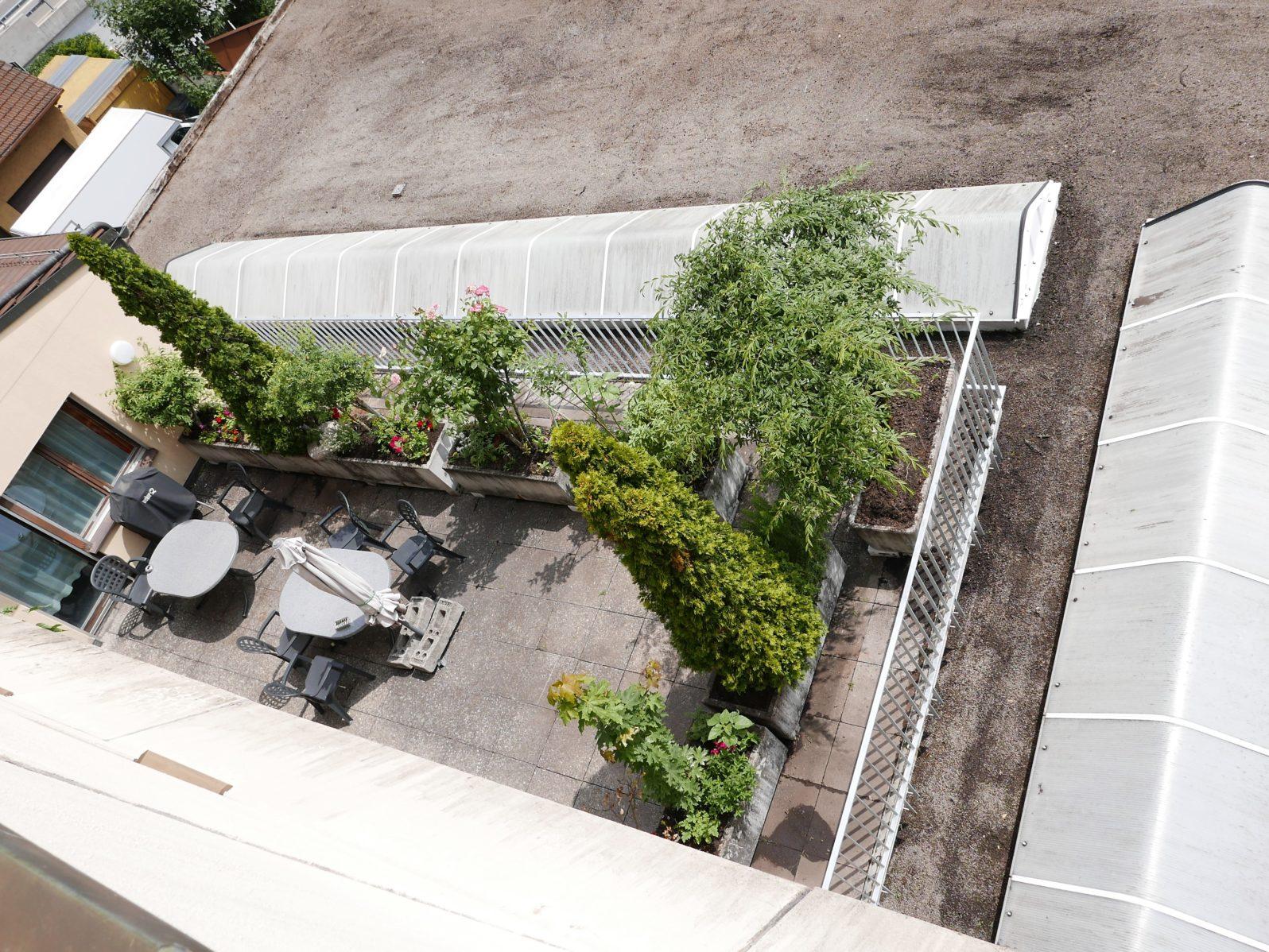 Staketengeländer Feuerverzinkt Terrasse Pflanzen