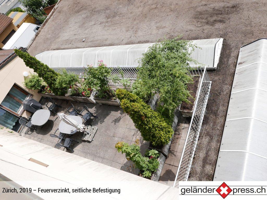 Staketengeländer feuerverzinkt von oben - Online Geländer bestellen