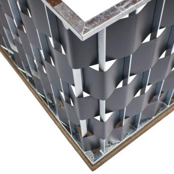 Xpress-Geländer mit Sichtschutzstreifen von Oben