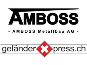 Logo AMBOSS Metallbau AG und geländerXpress.ch