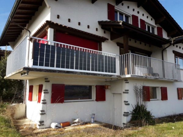 Solargeländer Balkon