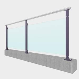 Glasgeländer mit Klarglas oder Milchglas und Pfosten in Farbe oder Feuerverzinkt